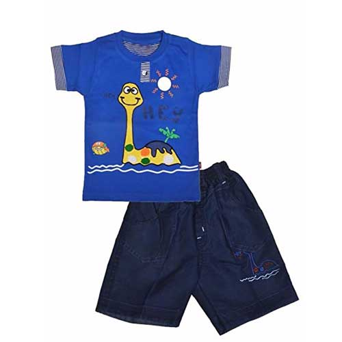 Boys blue apparel set