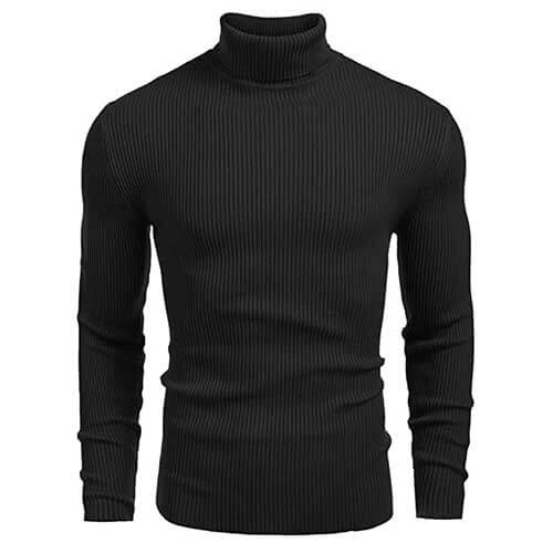 Mens Black Turtleneck Sweater
