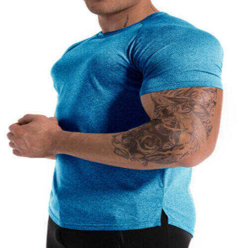 Wholesale Men's Blue Workout T-shirt