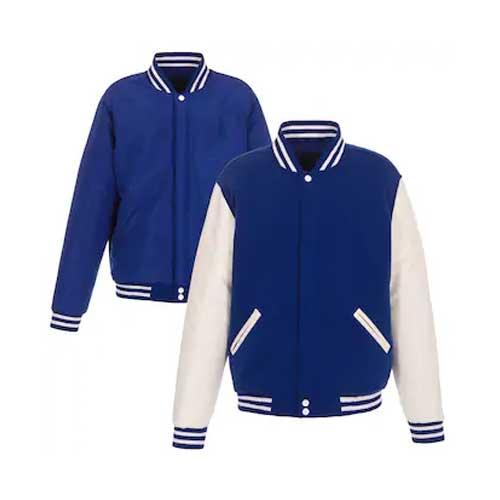 Mens Blue Varsity Jacket Set