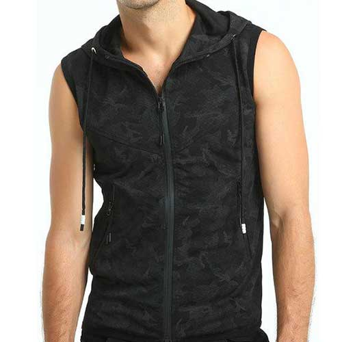 Mens Camo Sleeveless Jacket