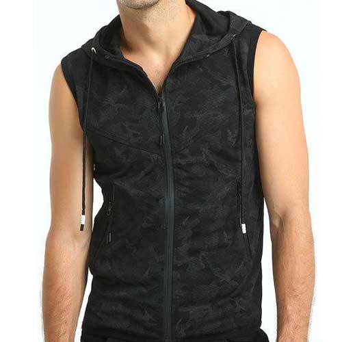 Mens Camo Sleeveless Jacket