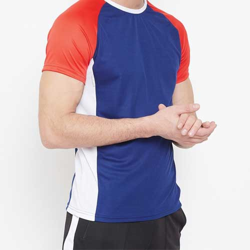 Mens Multi color Dri fit T shirt