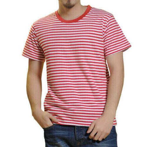 Wholesale Men's Multi-Color Striped T-shirt