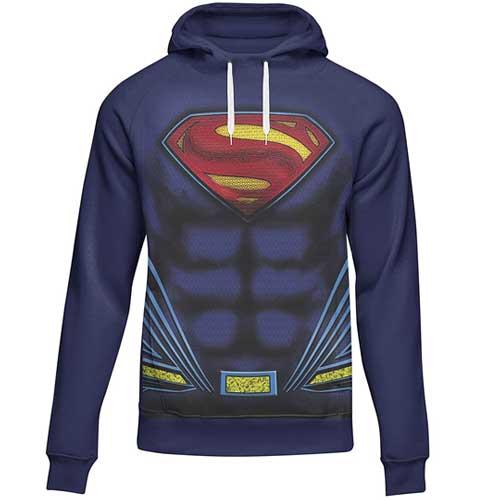 Mens Superman Printed Hoodie