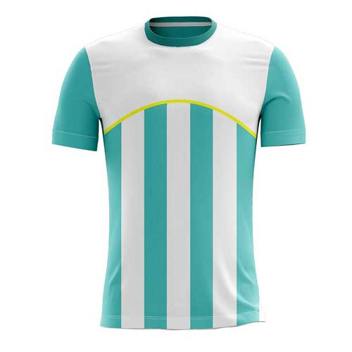 Mens White Blue Jersey