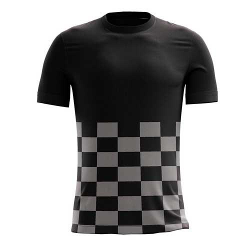 Mens black checkedred pattern tee