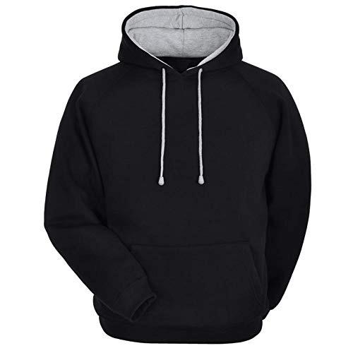 Mens black cozy hoodie