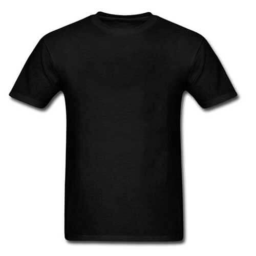 Mens black fitted tee