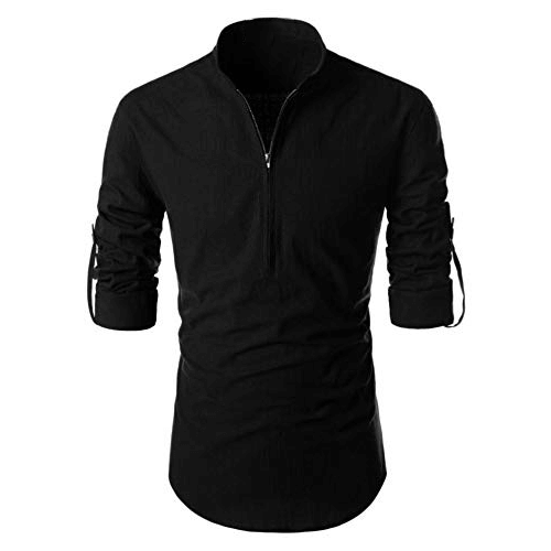 Mens black long t shirt
