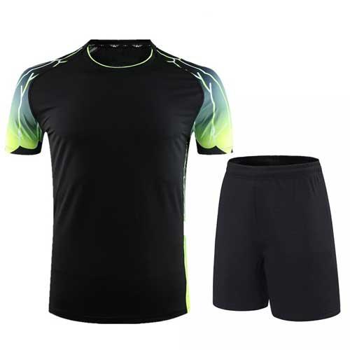 Mens black lycra jersey set