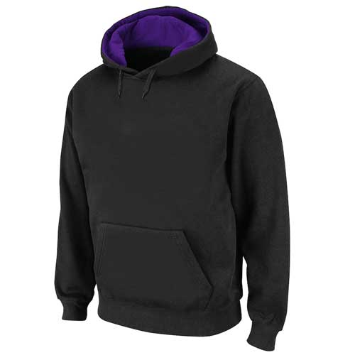 Mens black sports hoodie