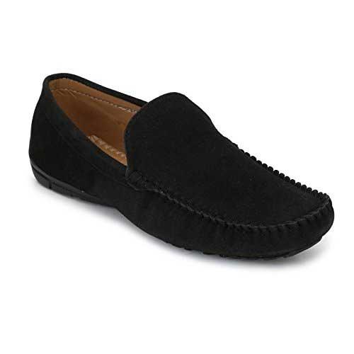 Mens black suede shoes