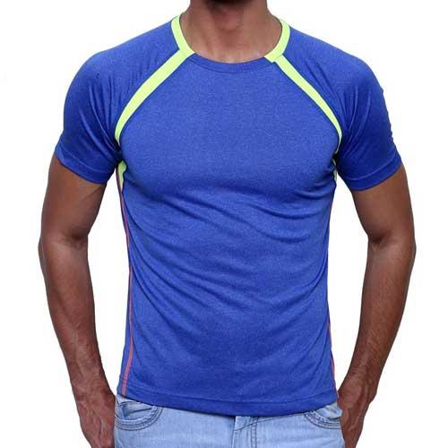 Mens blue athletic tee