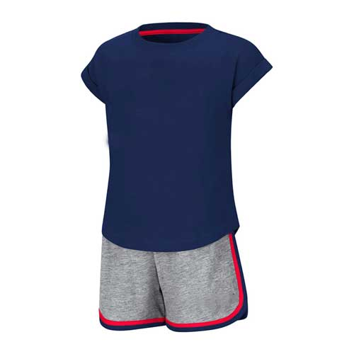 Mens blue cotton jersey set