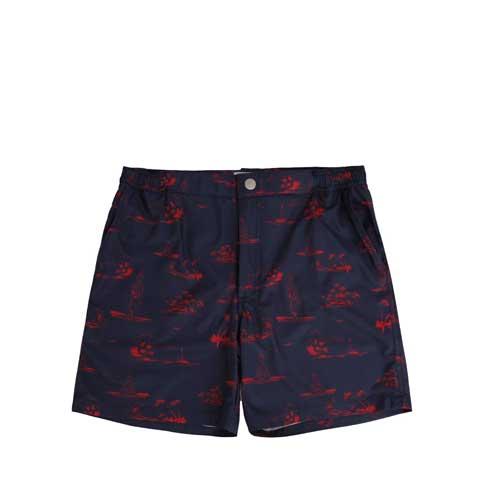 Mens blue printed shorts