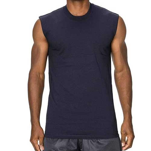 Mens blue sleeveless tee