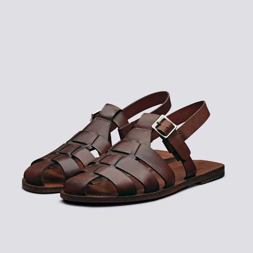 Mens brown sandals