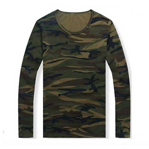 Mens camo print full sleeve t shirt