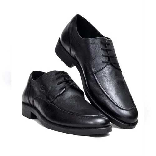 Mens classic black leather shoes