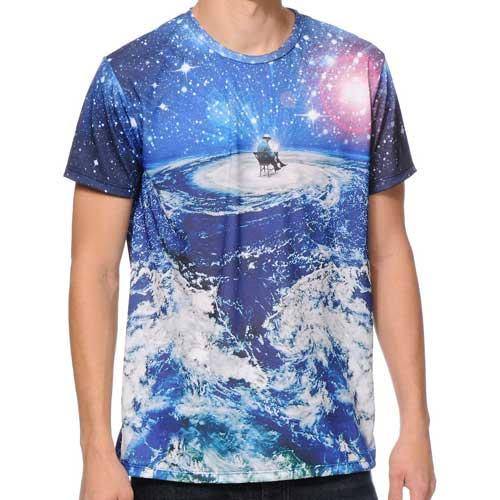 Mens galaxy print t shirt