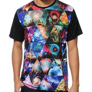Men's Galaxy Print Tee from Clothing Manufacturer