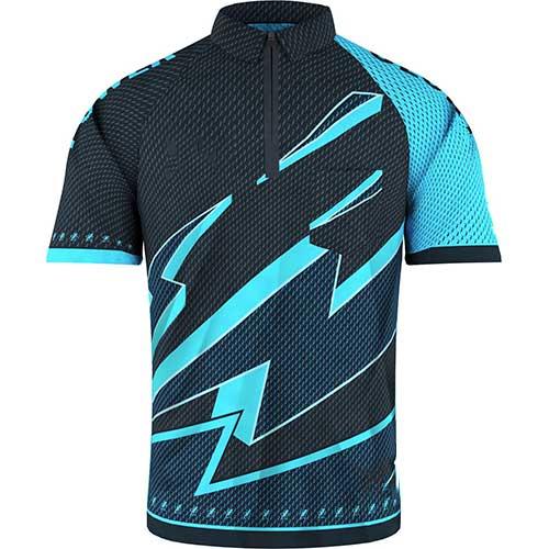 Mens geometric blue t shirt