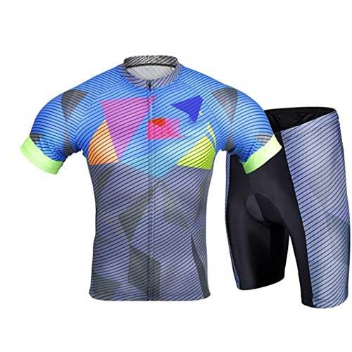 Mens geometric print athletic apparel set