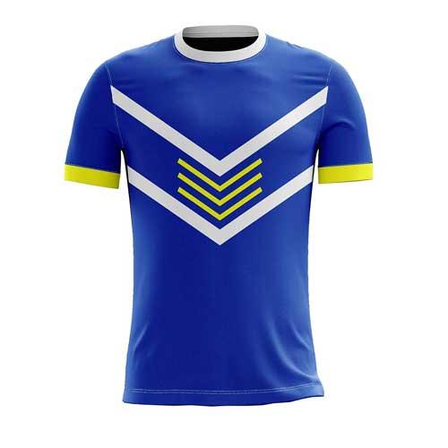 Mens neon blue jersey tee
