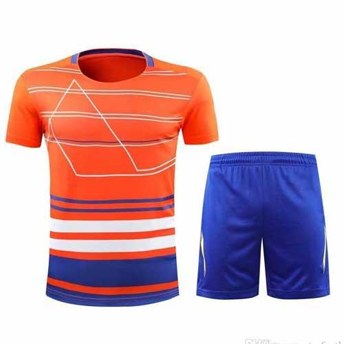 Mens orange blue jersey set