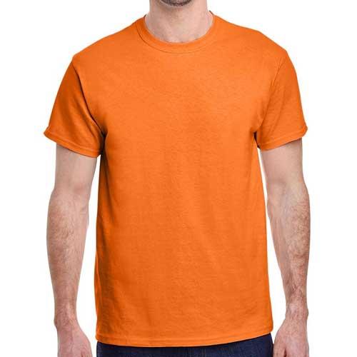 Mens orange round neck tee