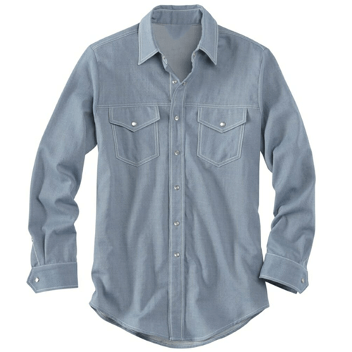 Mens pastel blue denim shirt