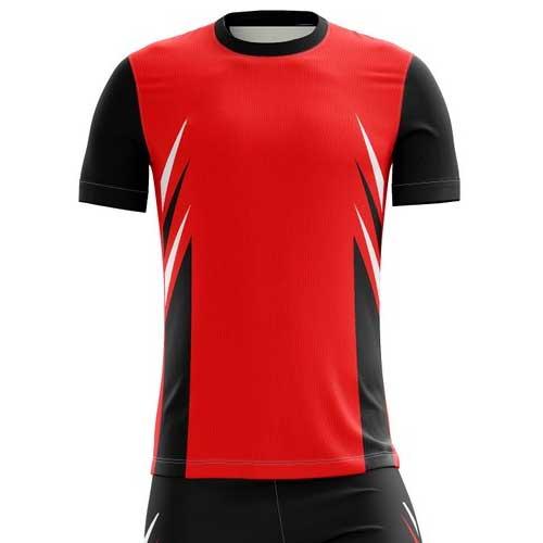 Mens red black jersey set