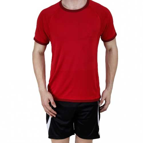 Mens red casual tee