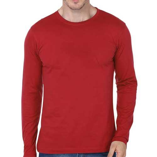 Mens red full sleeved tee