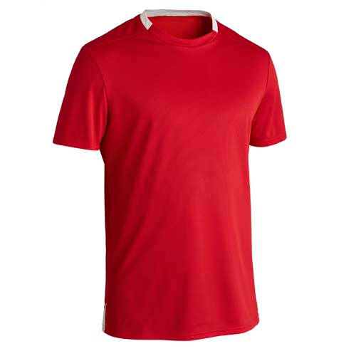 Mens red roundneck tee