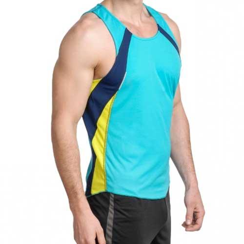Mens sleeveless blue tank
