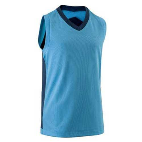 Mens sleeveless blue tee