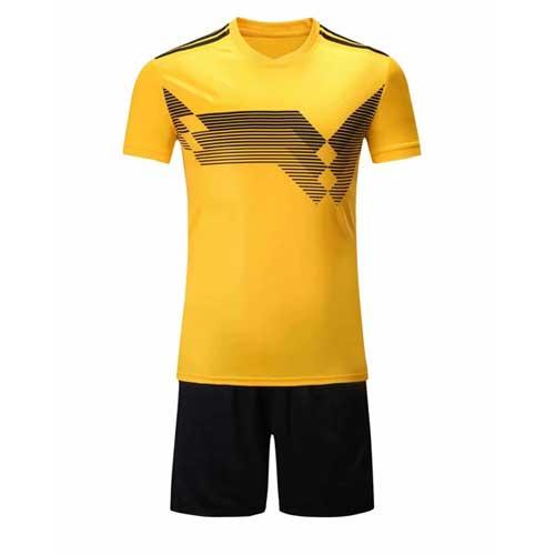 Mens yellowblack jersey set