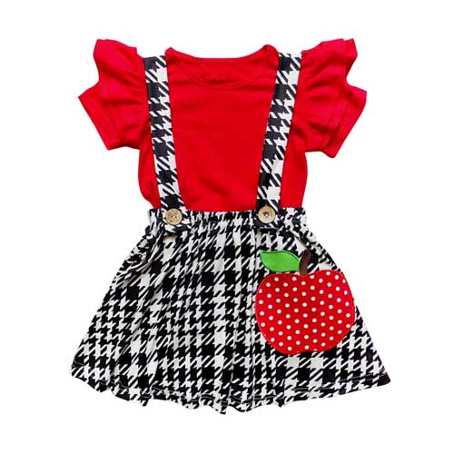 Toddlers Apple Red Dress