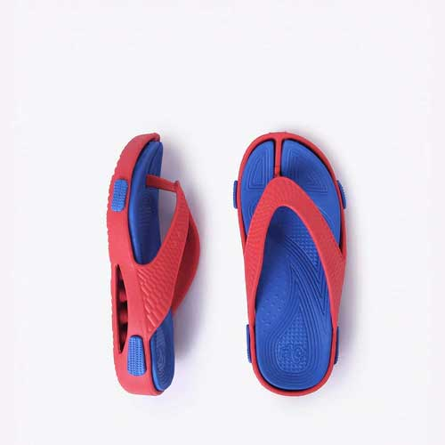 Unisex multi color flip flops