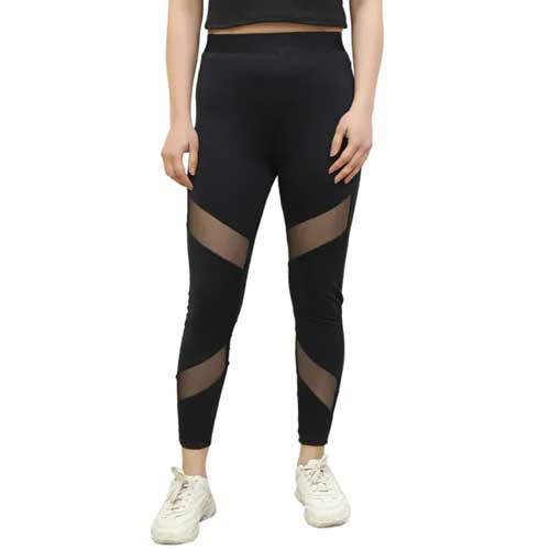 Womens Black Mesh Legging