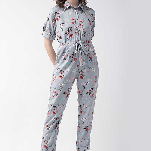Womens Floral Printed Jumpsuit
