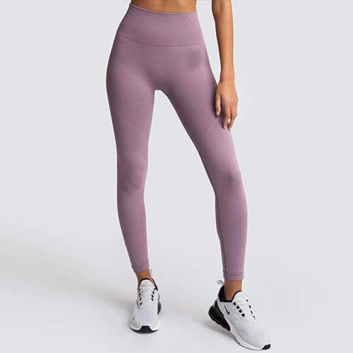 Womens Mauve Seamless Legging