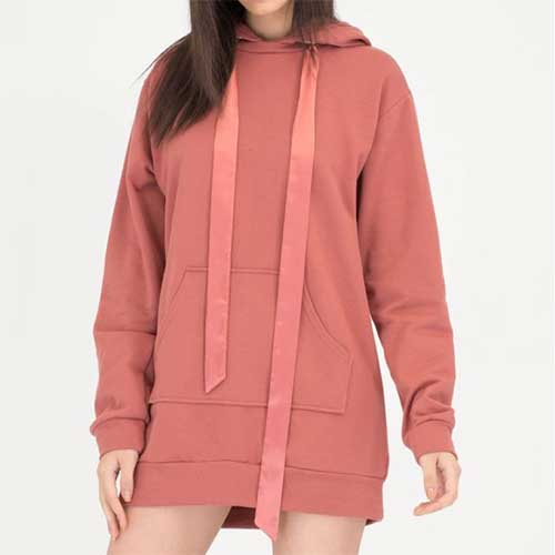 Womens Pink Oversized Hoodie