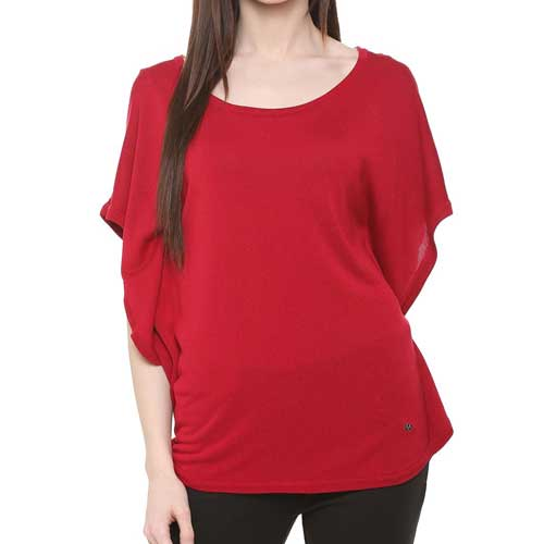 Womens Red Fashion Top