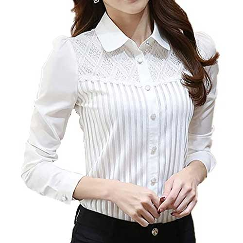 Womens White Classic Shirt
