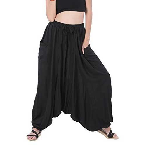 Womens black harem pants