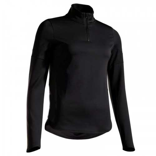 Womens black thermoregulated top