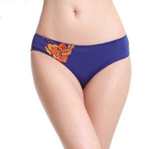 Wholesale Women's Blue Floral Underwear